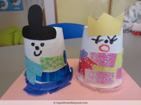 Paper Cup Dolls