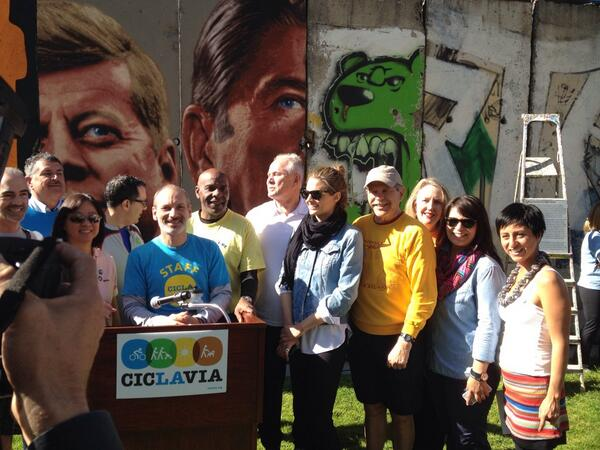 CicLAvia - Iconic Wilshire Boulevard Kick-off Ceremony (photo @christineziemba)
